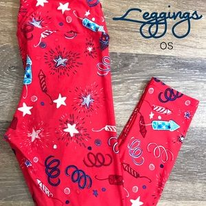 Lularoe 4th of July Leggings OS